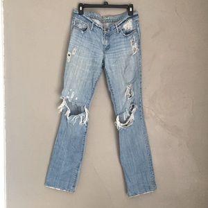 Ruehl No.925 Super distressed denim jeans